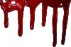 Stékající krev - průhledná